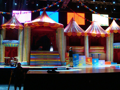 Circus Inflatable Stage set