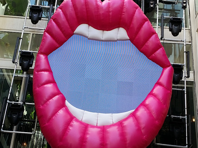 Inflatable Lips LED Screen
