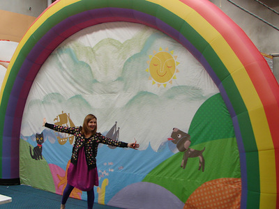Justine Clarke Inflatable Stage Backdrop