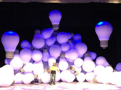 Ross Noble Brain Dump Inflatable Stage set