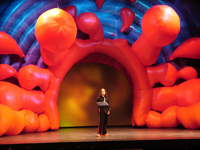 Ross Noble first Inflatable Stage set