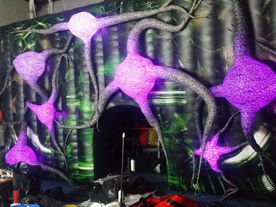 Ross Noble inflatable Neuron Stage set