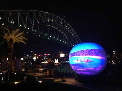 5m Rental Inflatable Projection Sphere Sydney Harbour