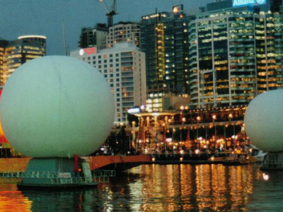 Giant 9m Inflatable Projection Spheres Australia Day