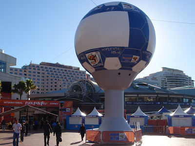 Soccer World Cup Projection Inflatable Football FIFA Fan Fest