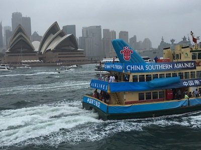 Ferry Race Sydney Harbour China Airlines Inflatable