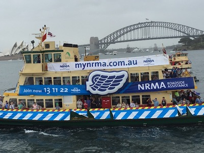 Ferry Race NRMA Inflatable