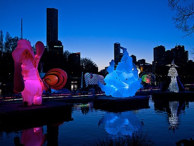 Inflatable Artwork on The Yarra