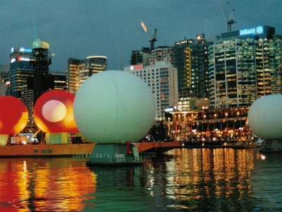Inflatable Projection Spheres Darling Harbour