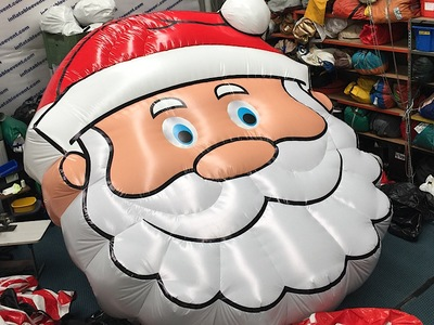 inflatable Santa face