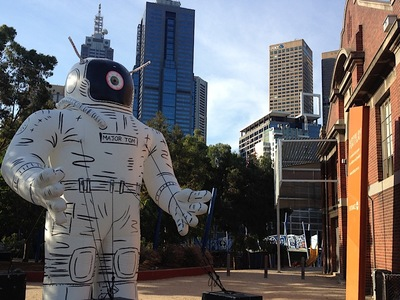 Major Tom Inflatable Astronaut Artwork
